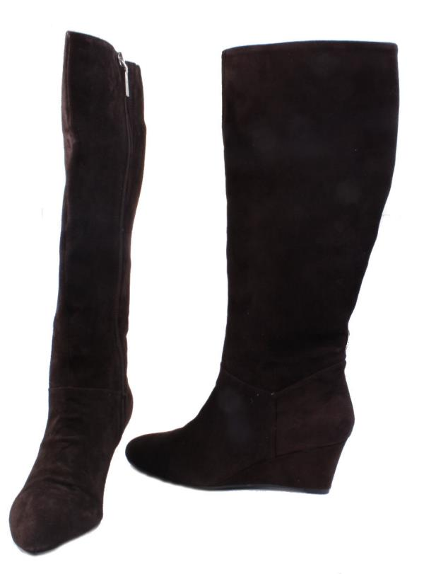 marc fisher verifies womens brown suede knee high dress